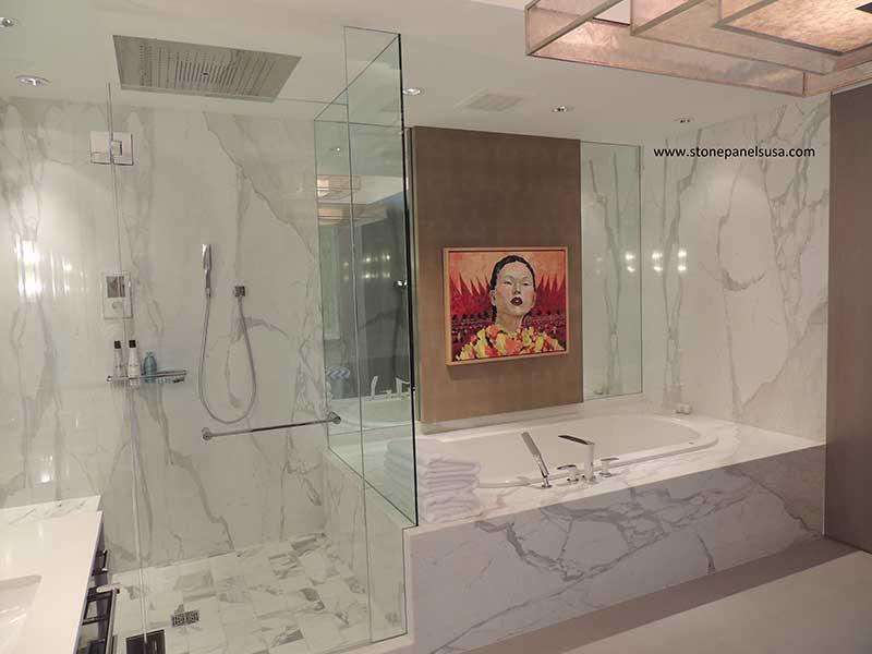 Callacata Gold Bathroom panels