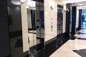 Creme marble stone panels